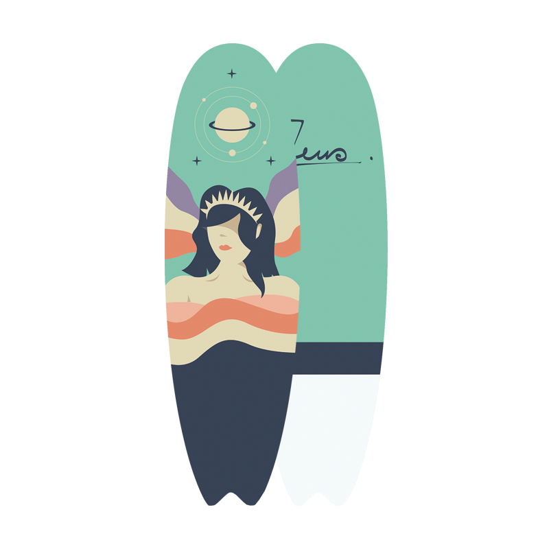 Surfboard 6'2 Gaia
