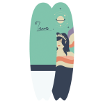 Surfboard 6'10 Gaïa