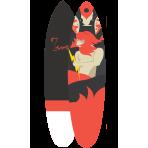Surfboard 7'2 Volcano